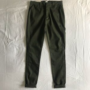 Gap High Rise Green Twill Pants
